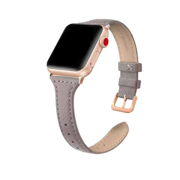 Taupe Slim Strap / Rose Gold Buckle - 38mm, 40mm, 42mm, 44mm