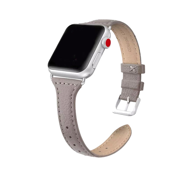 Taupe Slim Strap / Silver Buckle - 38mm, 40mm, 42mm, 44mm