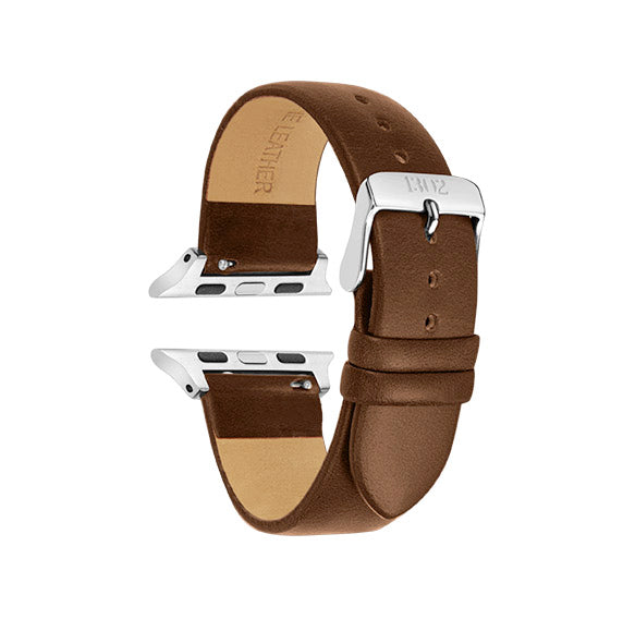 Walnut / Silver Buckle - 38mm, 40mm, 42mm, 44mm
