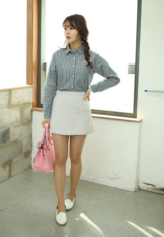 Pearly Mini Skirt in Grey