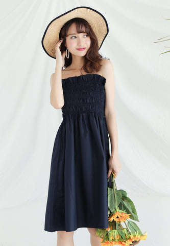 Basic Tube Dress in Black