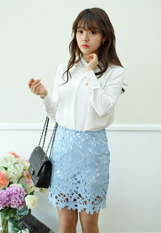 Neo Mini Skirt in Blue
