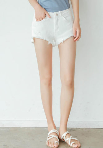 Light Jeans Shorts in White