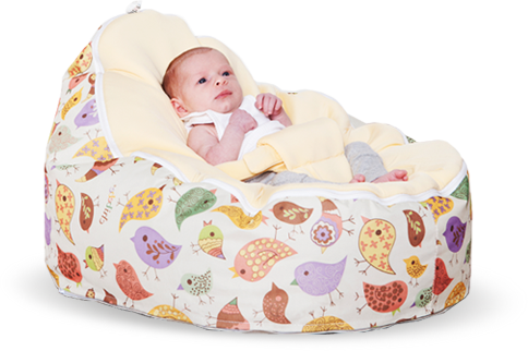 Suitable from Birth Africa Design Cotton Fabric Baby Lounger Bean Bag Safety Harness Ready Steady Bed/®