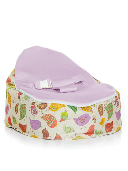 Snuggle Pod in Chirpy design with Blue seat by Chibebe