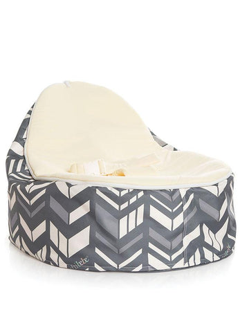 chevron baby bean bag by Chibebe