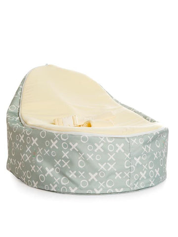 Chibebe Snuggle Pod Baby Beanbag with cream seat