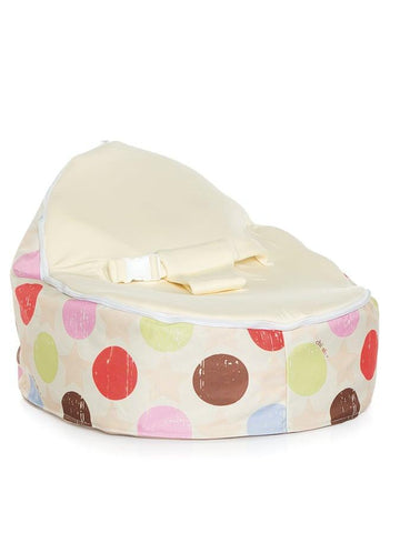 Liberty Baby Bean Bag with swappable Cream seat attachment
