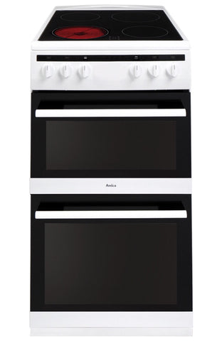 Amica 50 cm freestanding cooker, 2 door with ceramic hob