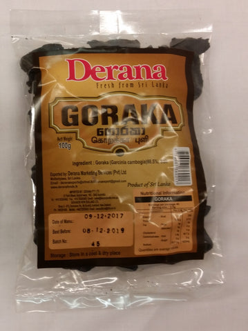 Goraka Whole 100g Packet