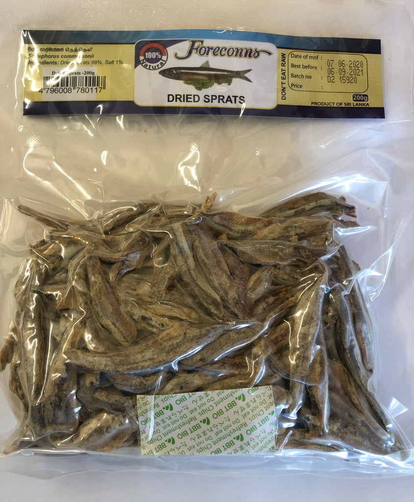 Foreconns Dried Sprats (Headless)  200g Packet