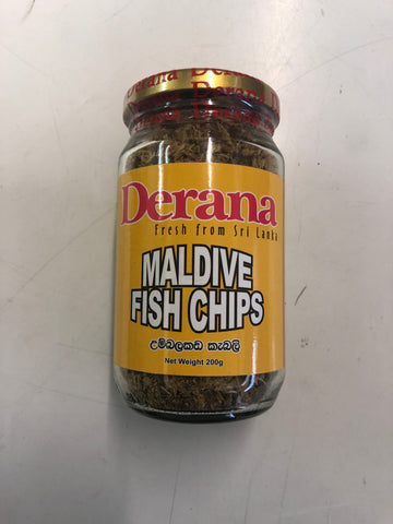 Derana Maldive Fish Chips Bottle 200g