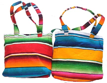 Serape Zipper Top Tote