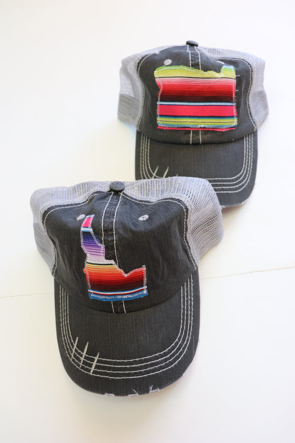 Fiesta Serape Distressed Trucker Hat