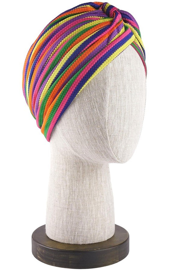 Retro Rainbow Hair Turban