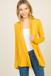Last Call Canyon Pleated Cardigan [Mustard]