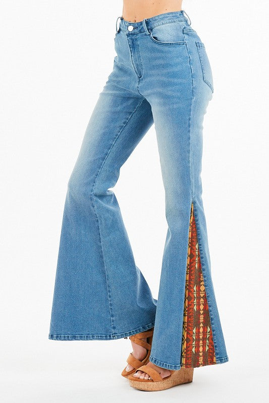 Aztec Queen Super Bell Bottom Jeans