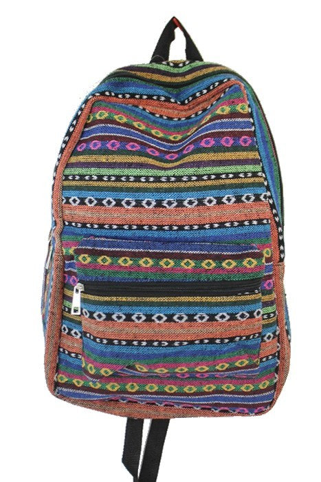 Striped Serape Backpack