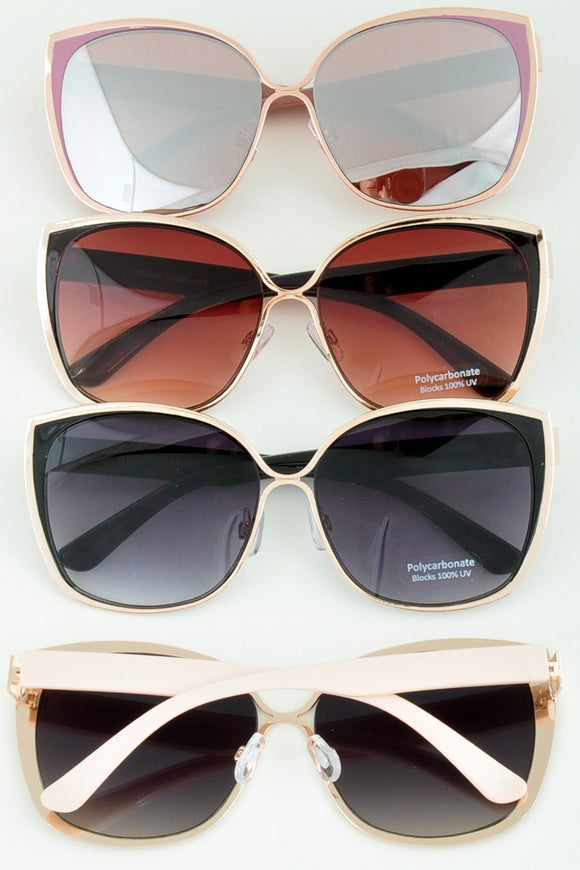 Vintage Cat Eye Mirrored Sunglasses [4 Colors]