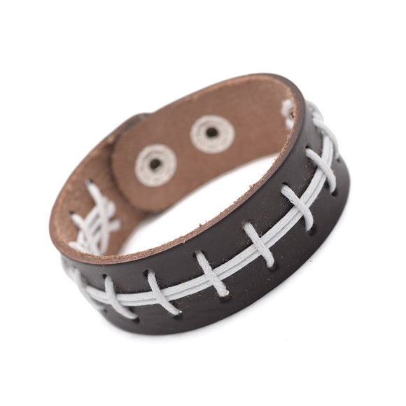 Sweet Football Leather Bracelet
