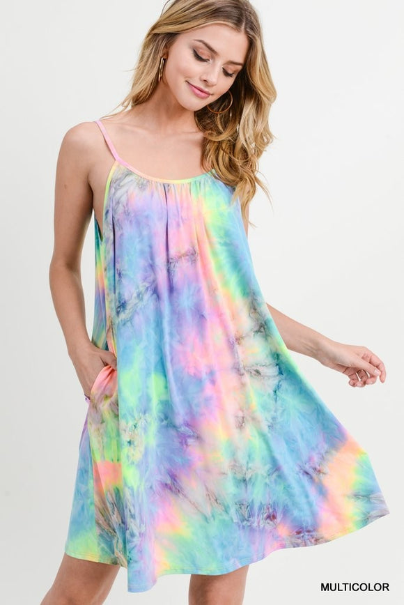 Nelly Neon Tie Dye Dress