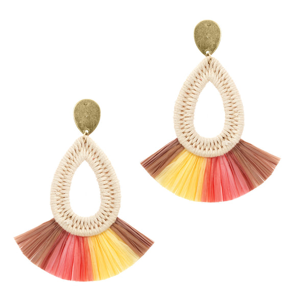 Fiesta Straw Post Earrings