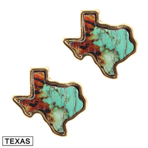 Marble Texas Stud Earrings [5 Colors]
