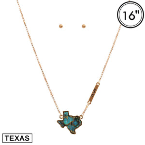 Marble Texas Necklace Set [4 Colors]