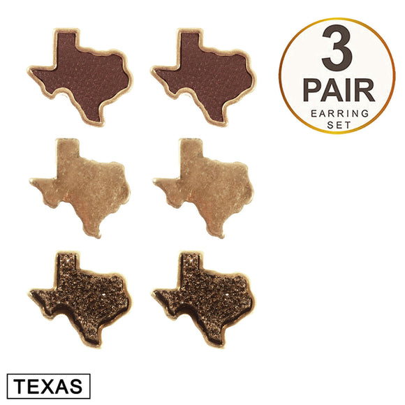 Sweet Texas Stud Earring Set [Bronze]