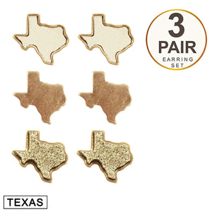 Sweet Texas Stud Earring Set [Gold]