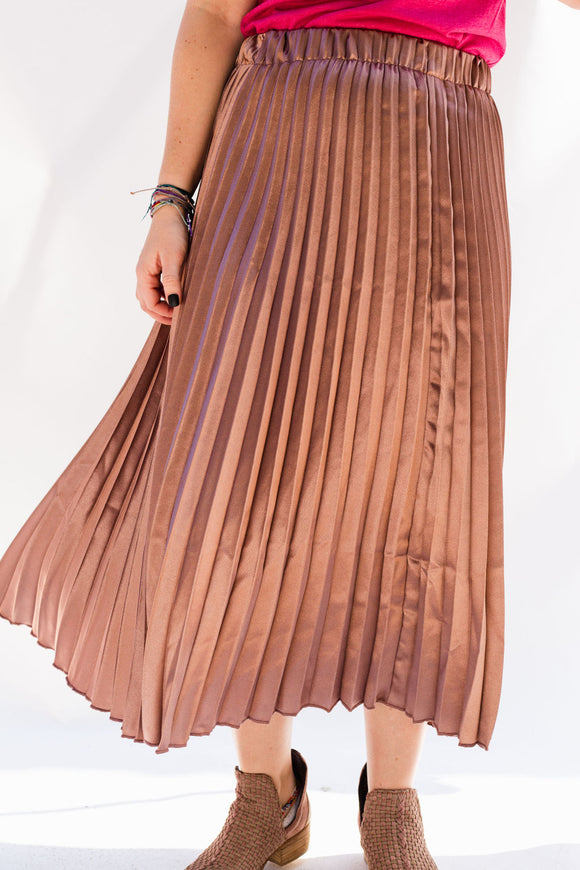 McLennan Metallic Pleated Skirt