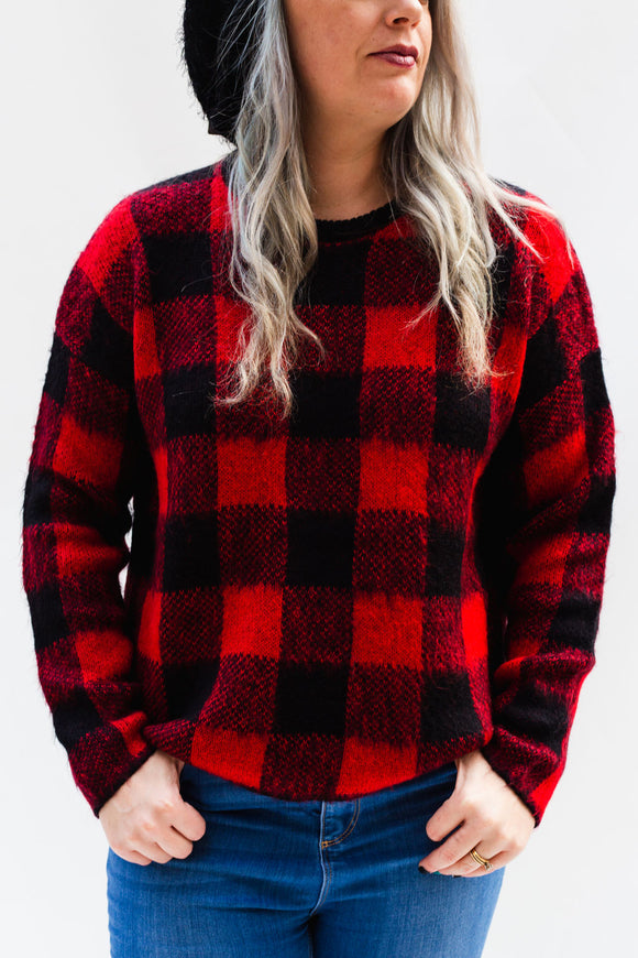 Bagwell Buffalo Plaid Sweater