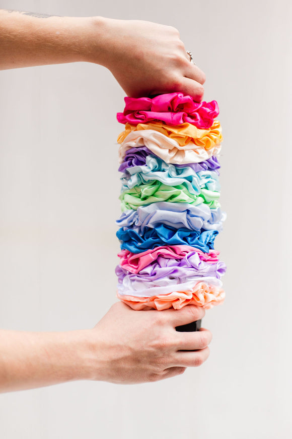 Silky Scrunchies [12 Colors]