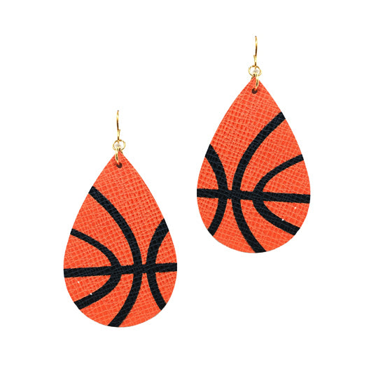 Basketball Tear Drop Earrings