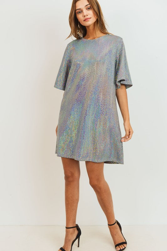 Chile Pepper Sequin Dress [Hollow Grey]
