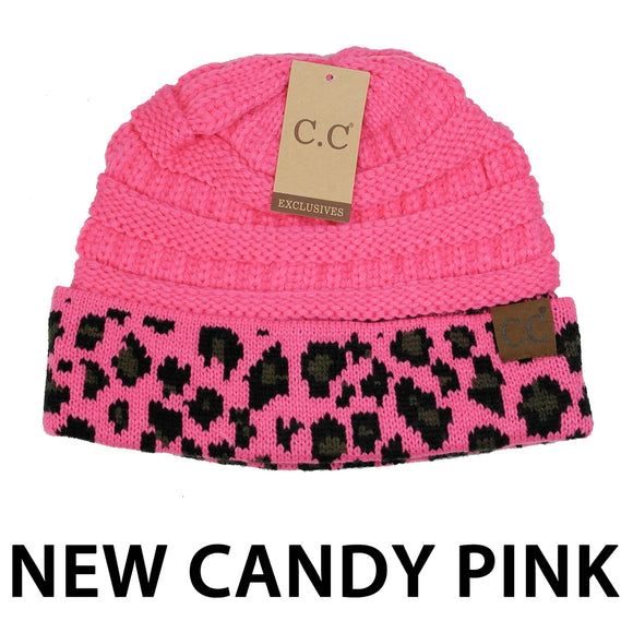 Leopard Beanie [Candy Pink]