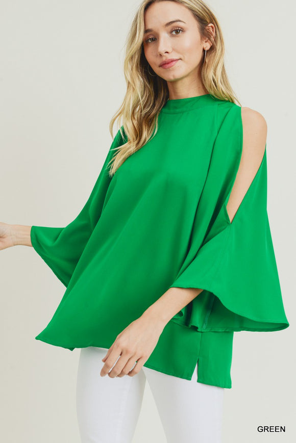 Conway Cold Shoulder Top [Green]