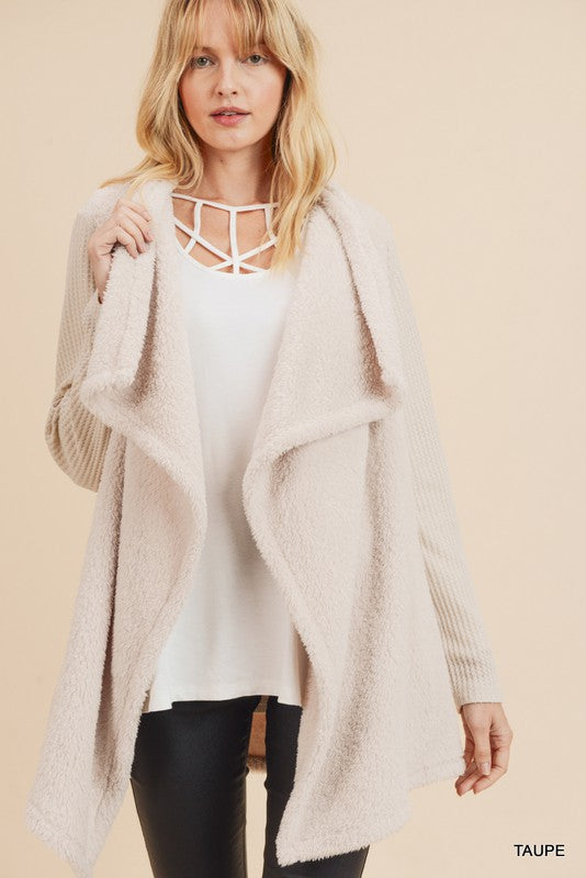 Snow Sherpa Waterfall Cardigan
