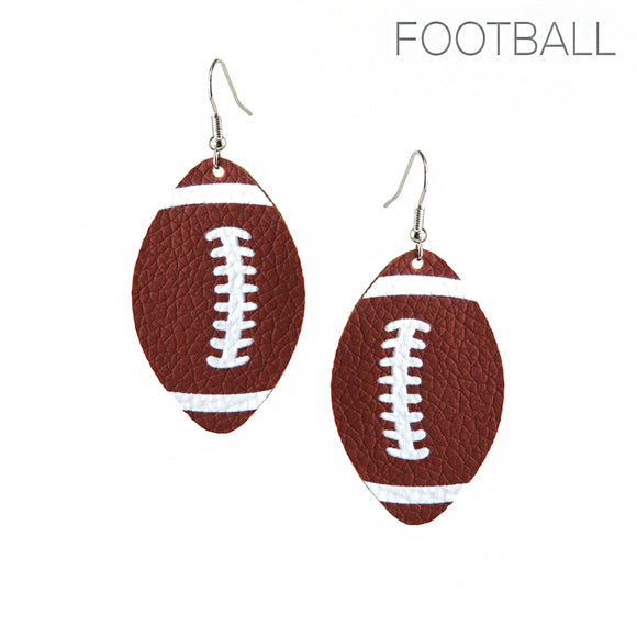 Football Teardrop Earrings
