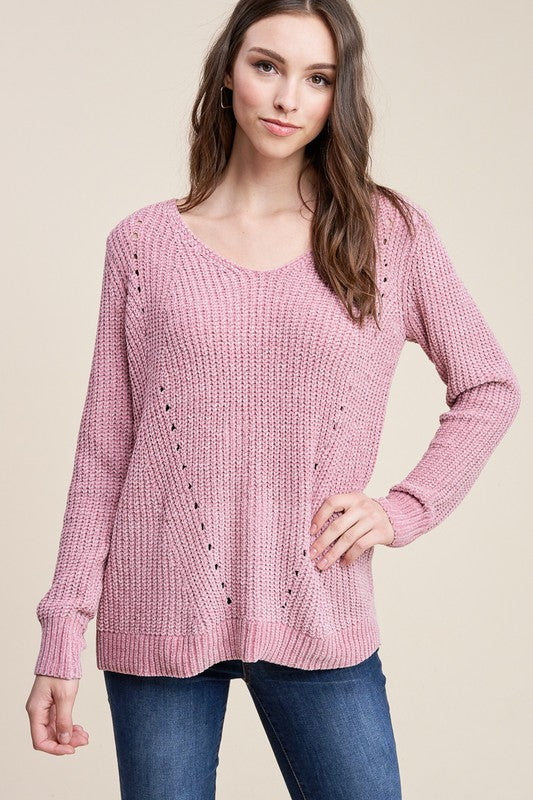 Dahlia Dusty Sweater [Pink]