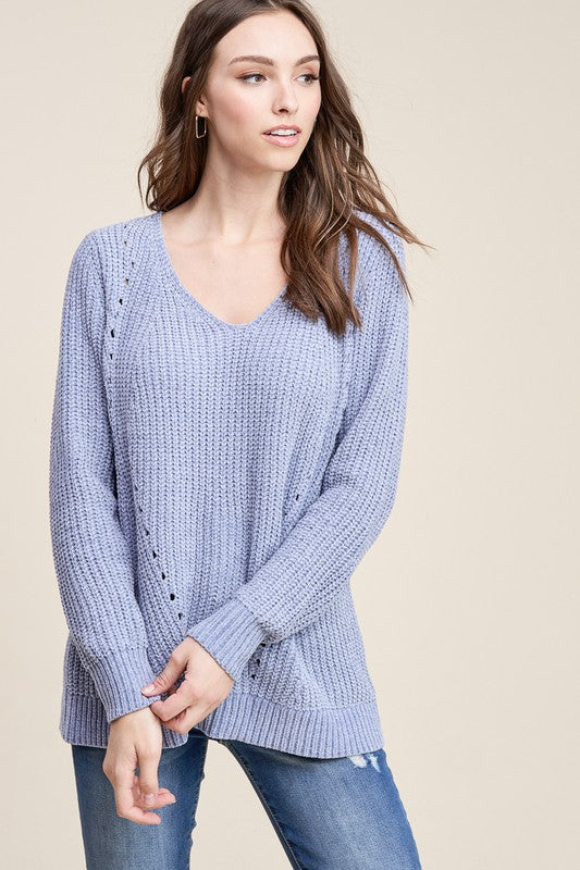 Dahlia Dusty Sweater [Blue]