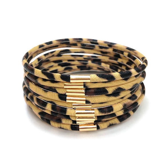 Queen of The Jungle Leopard Bangles