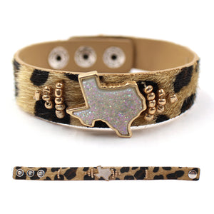 Druzy Texas Animal Print Bracelets [2 Colors]