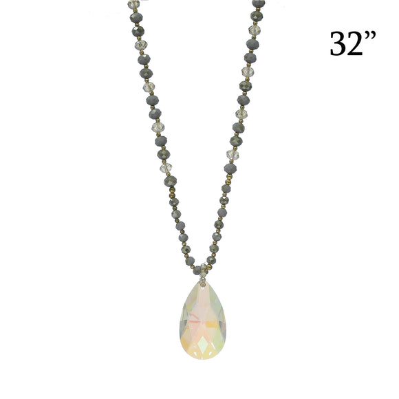 Natural Mystic Crystal Pendant Necklace