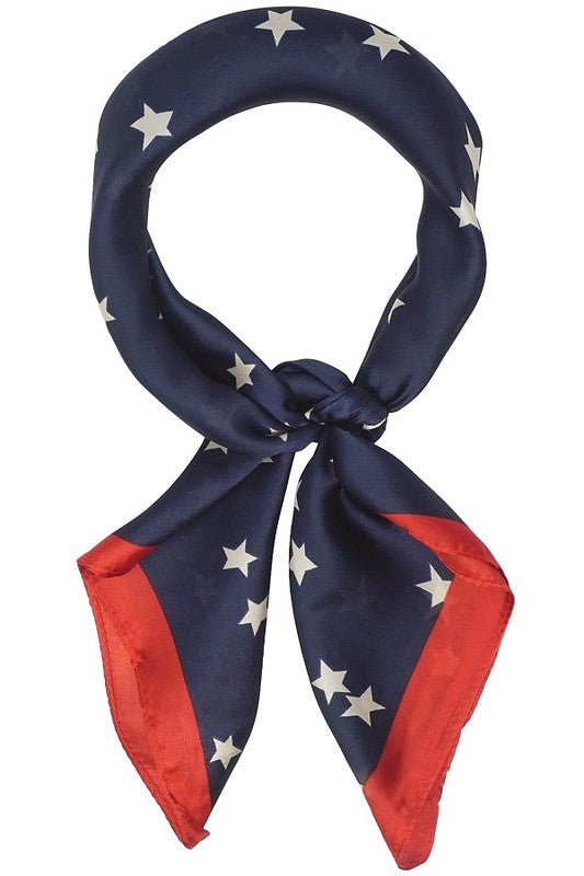Vintage Patriotic Star Silky Neckerchief