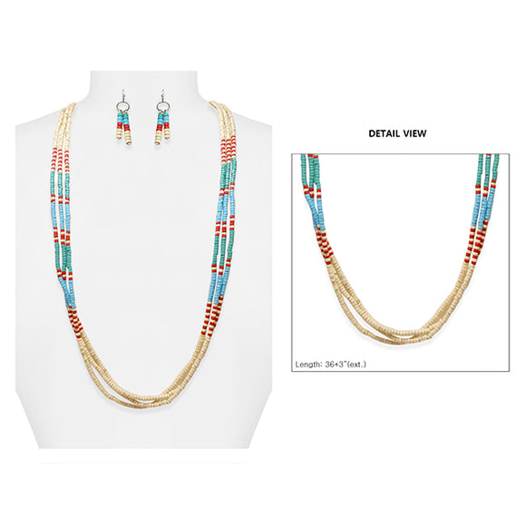 Wildly Wooden Beaded Necklace Set