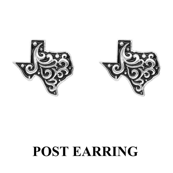 Texas Swirl Stud Earrings