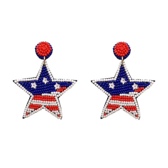 American Star Beaded Earrings