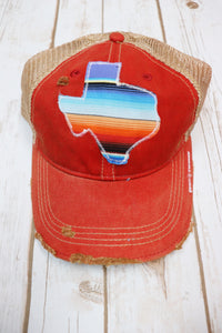 Agave Purple Serape Dirty Trucker Hat