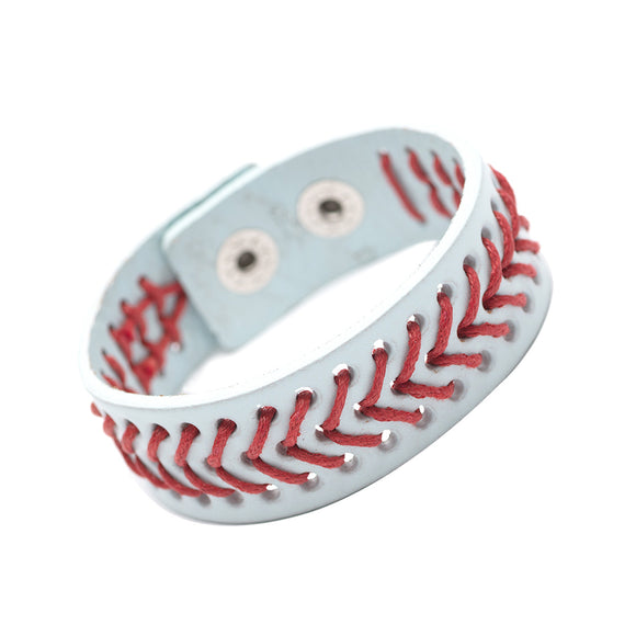 Sweet Leather Baseball Bracelet